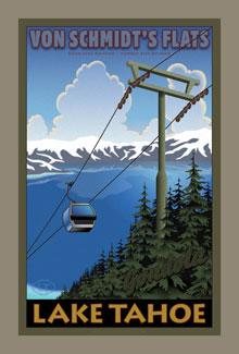 Lake Tahoe Poster Gondola