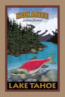 Kokanee Salmon Lake Tahoe Poster