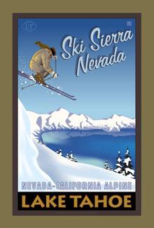 Lake Tahoe Poster Ski